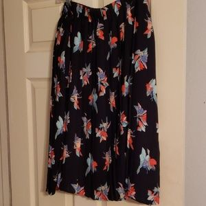 Ava and Viv pleated navy floral skirt